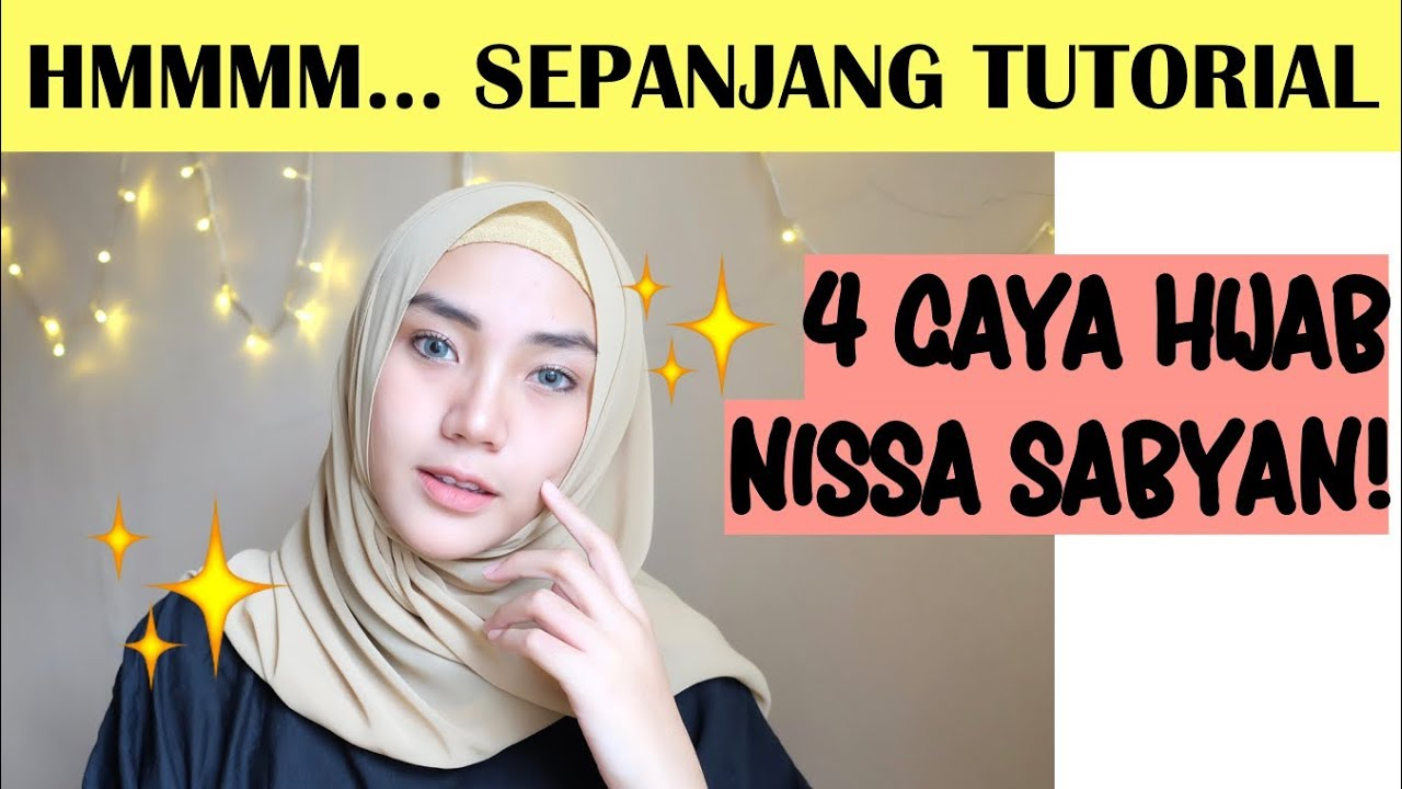 nissa sabyan tutorial hijab | raniekarlina - youtube