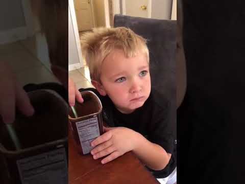 Austin James - Kid attempts to eat unsweetened chocolate powder