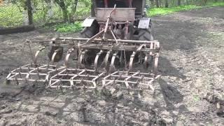 Саморобний трактор.Культивація.