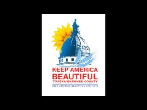 Karey Brown visits with Keep America Beautiful's Philicia McKee