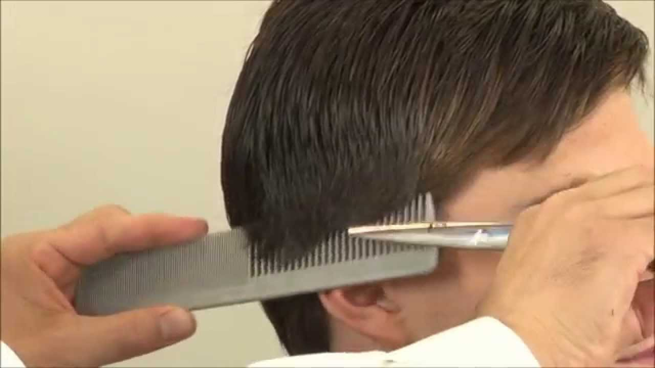 Classic Side Part Hairstyle – How To Cut Hair With Scissors – Part 10