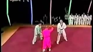 قتال رهيب بين لاعب كونغ فو ولاعب تايكواندو