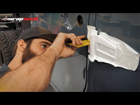 Jeep wrangler full body wrapped in gloss beige - YouTube