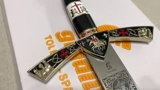 Меч Тамплиеров белое золото, Templar Sword Deluxe Art Gladius AG3512