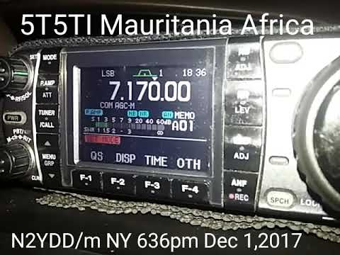 40m DX N2YDD/m with 5T5TI Mauritania Africa. DEC1 2017