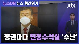 신현수 사의 파문…청와대 민정수석, 정권마다 '수난' / JTBC 뉴스ON