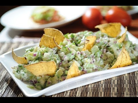 Ensalada de tomatillo - Recetas de ensalada - Green tomato salad