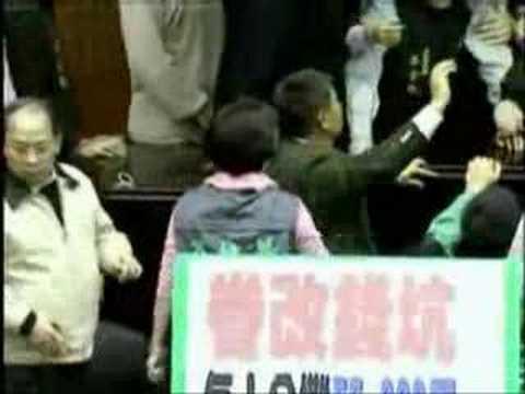 Taiwanese Legislature Fight