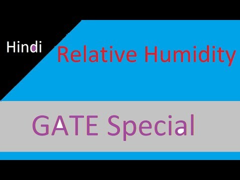 Relative Humidity in Hindi for GATE Refrigeration and Air Conditioning