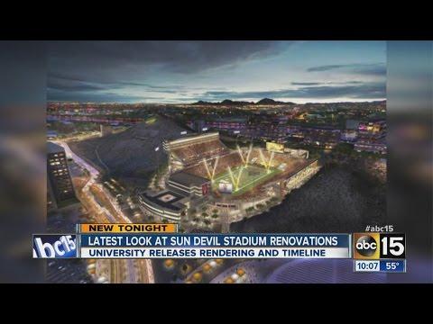 Latest look at Sun Devil Stadium renovations