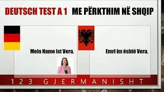 Prezantimi i vetes - Test - Sprechen - Deutsch A1 Gjermanisht - Për fillestarë - Bashkim familjar
