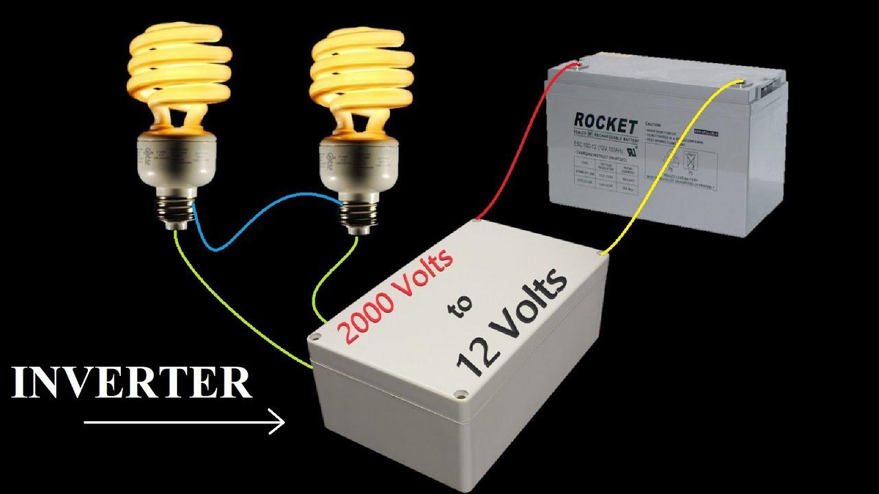 12v Dc To 2000v Ac Converter