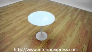 Interiorexpress Immer White Wood And Steel Mid-century Style End Table