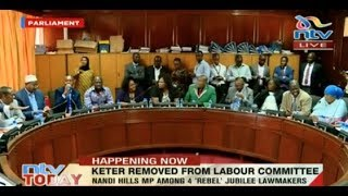 Nandi Hills MP Alfred Keter removed from Labour committee