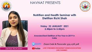 22-01-2021 - Nutrition & Health Seminar With Dietitian Richi Shah