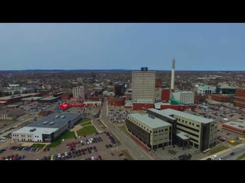 Moncton New Brunswick Drone View