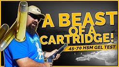 A Beast of a Cartridge! .45-70 HSM 430gr+P RNFP Gel Test