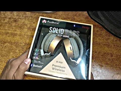 Unboxing Audionic S Premium Headphones Blue Beats Model B 999 Youtube