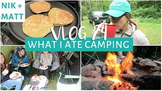 WHAT I EAT IN A DAY CAMPING & Family Pool Party Vlog | NIK + MATT VLOG 24