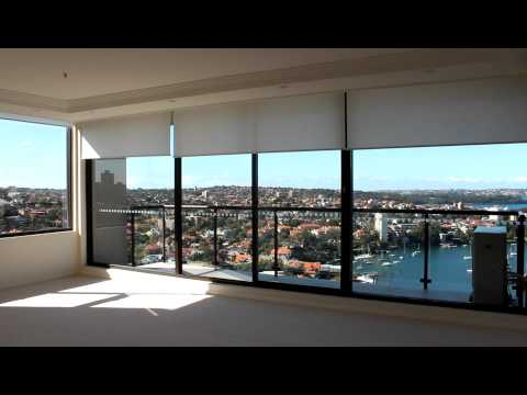 North Sydney Apartment Motorised Remote Control Roller Blinds Silent Gliss 4860 System