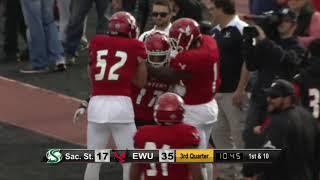 Highlights of Eastern Washington Football vs. Sacramento State (Sept. 30, 2017).