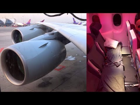 Economy Lie-flat Bed Qatar Airways Airbus A380-800 Doha - Ba