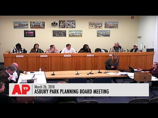 Asbury Park Planning Board Meeting - March 26, 2018