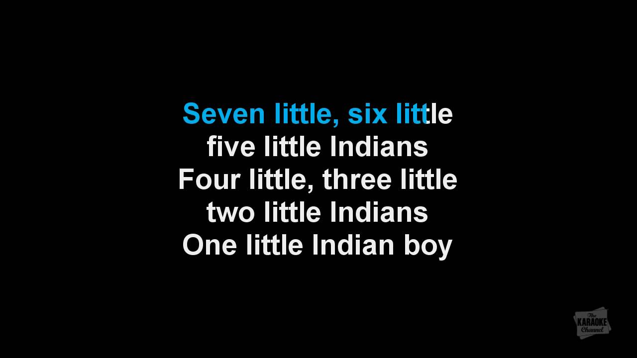 one two three little indian