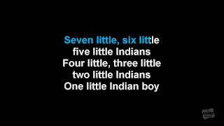Ten Little Indians in the style of Traditional karaoke video
