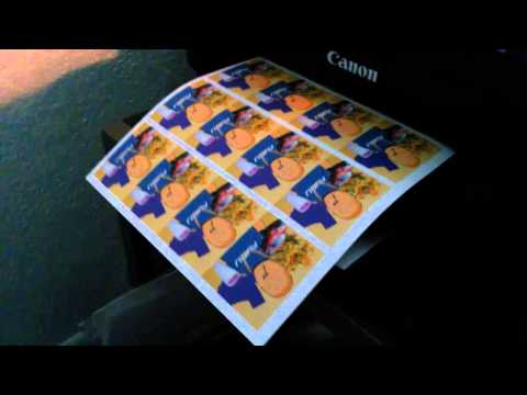 How to print your own stickers.