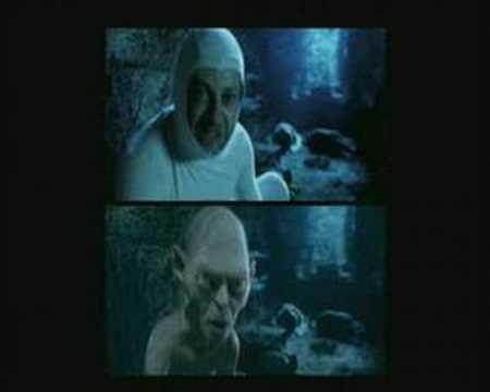 Andy Serkis performs Gollum's schizophrenia