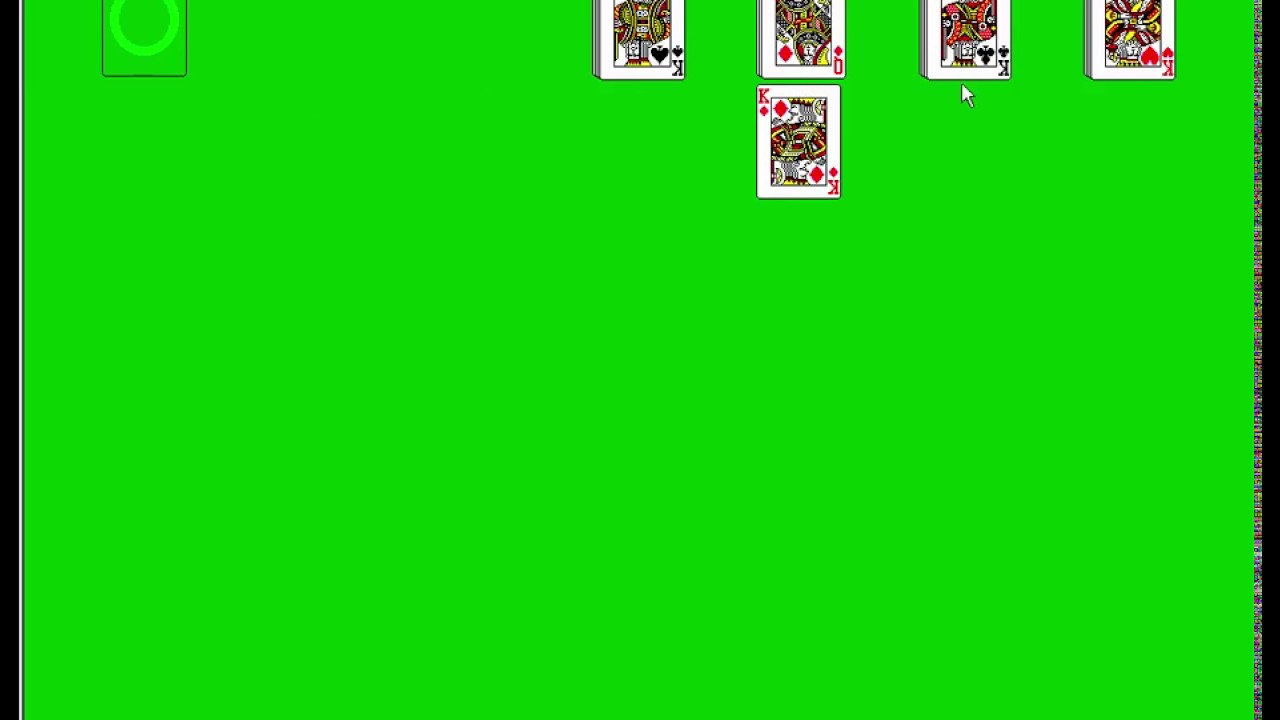 windows 3 1 solitaire victory youtube
