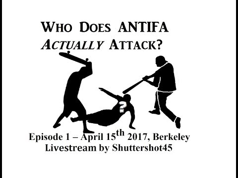 Who Does Antifa Attack? 01 April 15, 2017, Berkeley - Livefeed by Shuttershot45