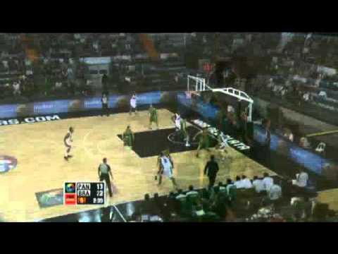 Panama Vs. Brazil / 2011 FIBA Americas Championship Round 2