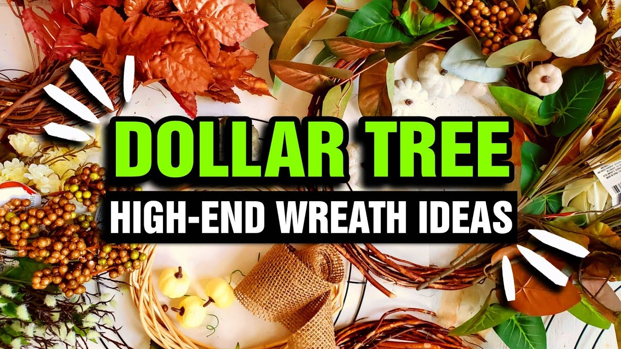 7 CREATIVE $1 Dollar Store DIY Fall Wreaths (Trendy NOT Trashy)