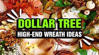 7 CREATIVE $1 Dollar Store DIY Fall Wreaths (Trendy NOT Trashy)