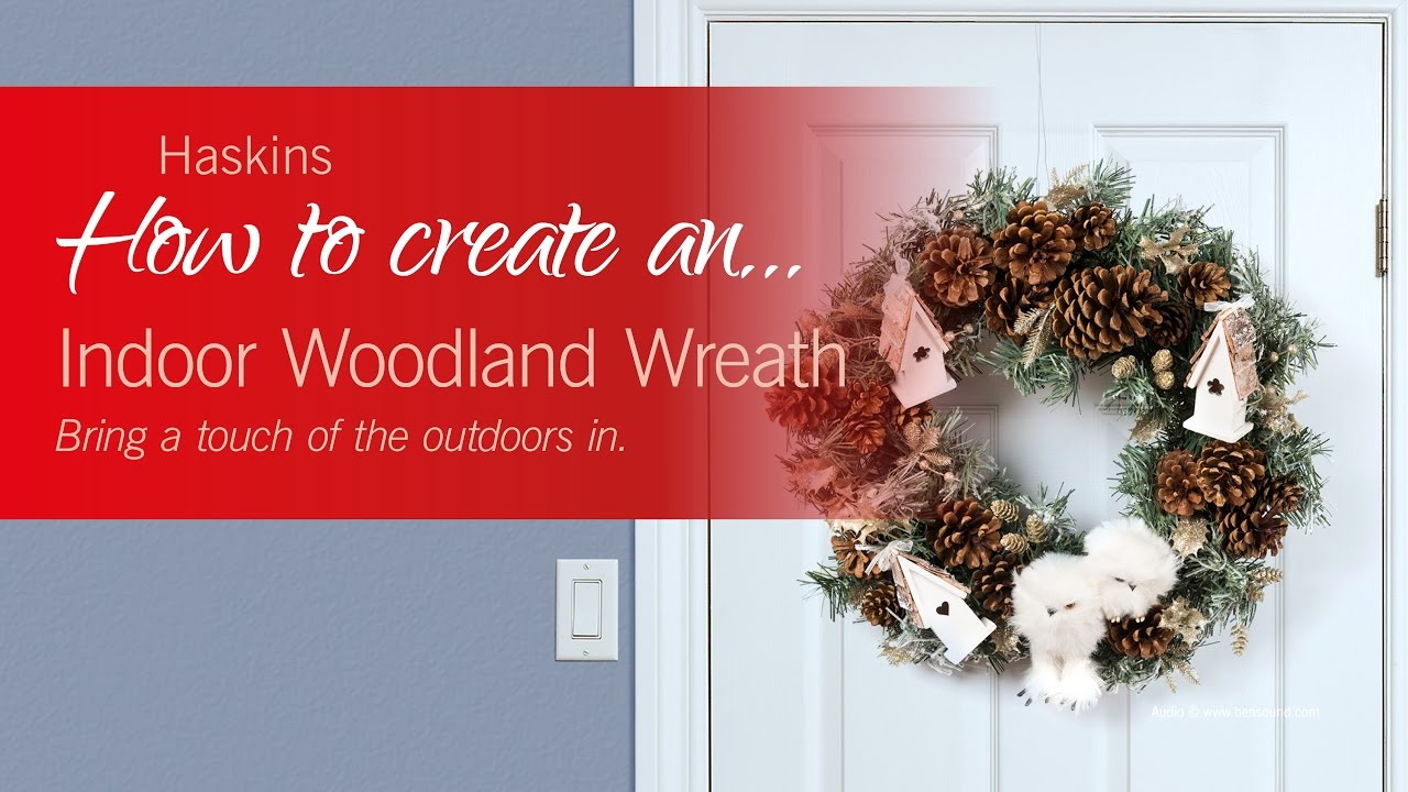 how to make an indoor wreath