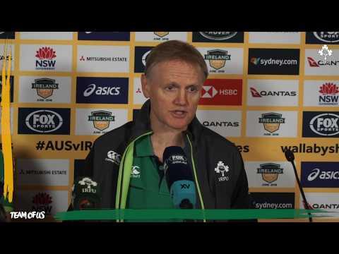 Irish Rugby TV: Australia v Ireland Third Test Post-Match Press Conference