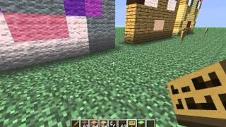 Minecraft Heads Sky Flyer 8 and Wooden Sword