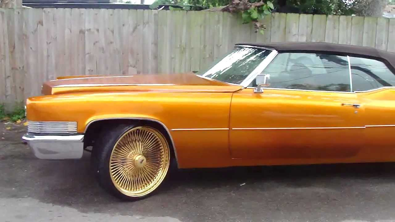 Candy Gold Cadillac Vert On 24 Quot Gold Daytons Youtube