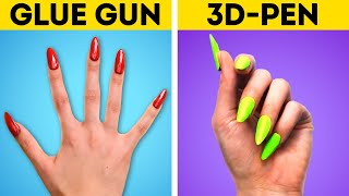 GLUE GUN VS. 3D-PEN || Epic Craft Battle With DIY Jewelry, Accessories And Repair Tips