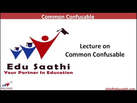 English Usage: Vocabulary (Commonly Confused Words) Part 1 of 2 | www.edusaathi.com