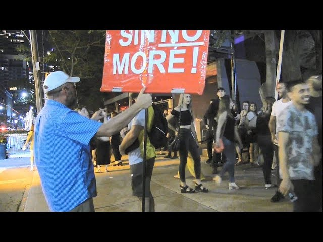 Toronto Night Clubs - Street Preaching - Kerrigan Skelly of PinPoint Evangelism
