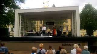 Helsinki Day:Sakilaiset-orchestra is playing on the stage of Espa
