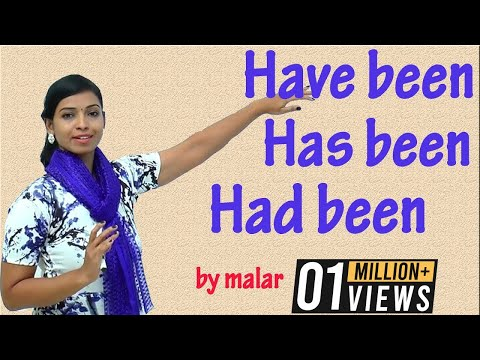 Usage of Have been, Has been & Had been # 30 - Learn English with Kaizen through Tamil