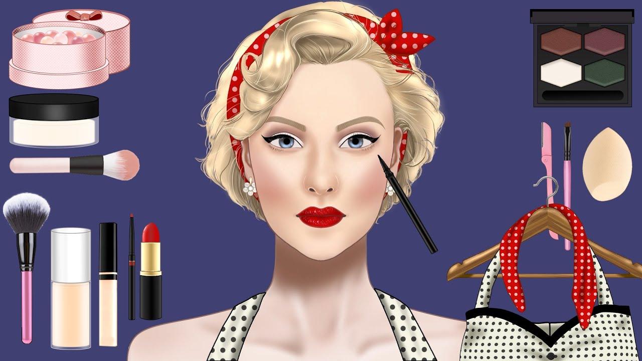 [Makeup]톡톡튀는 매력!핀업걸 메이크업💋/pin-up girl makeup