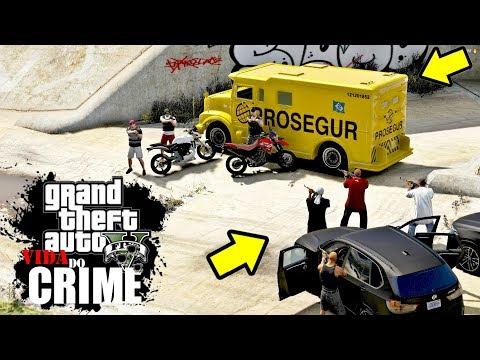GTA V: VIDA DO CRIME | A GANGUE DO MIOLO, tomou o CARRO FORTE DA GENTE #EP.07
