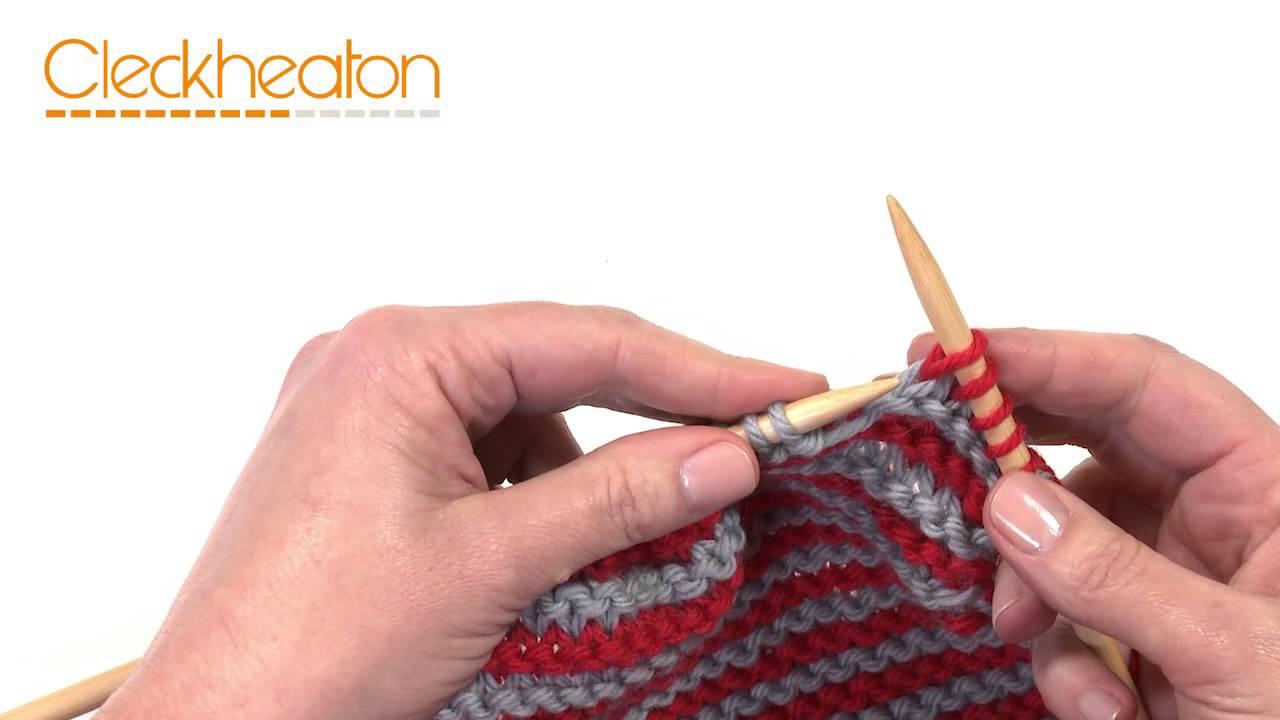 Knitting Stripes - Beginner Scarf - YouTube