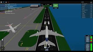 Roblox [SFS Flight Simulator] Airbus A380 taxi and take off testing