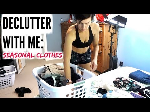 KONMARI DECLUTTER SUMMER: Seasonal Clothing Switch Over | AmandaMuse